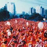 Desfile na Av. Afonso Pena - aniversário da SLU em 1996