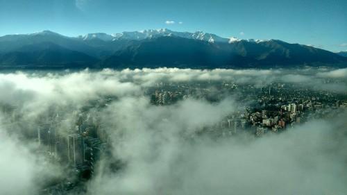 Santiago sob nuvens